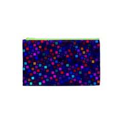 Squares Square Background Abstract Cosmetic Bag (xs)