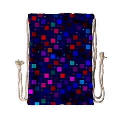 Squares Square Background Abstract Drawstring Bag (small)