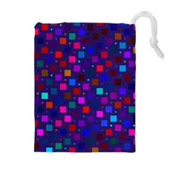 Squares Square Background Abstract Drawstring Pouch (xl) by Alisyart