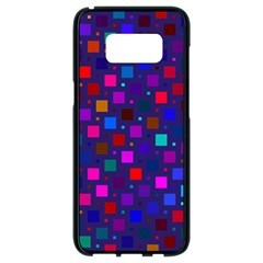 Squares Square Background Abstract Samsung Galaxy S8 Black Seamless Case