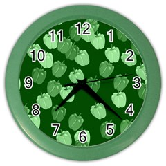 Seamless Paprica Color Wall Clock