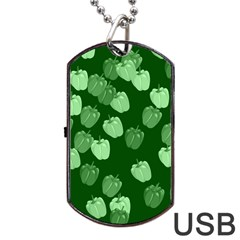 Seamless Paprica Dog Tag Usb Flash (one Side)