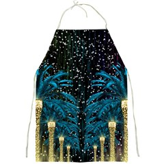 Winter Holidays Black Full Print Aprons