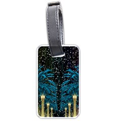 Winter Holidays Black Luggage Tags (two Sides)