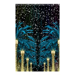 Winter Holidays Black Shower Curtain 48  X 72  (small)