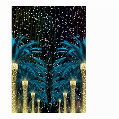 Winter Holidays Black Small Garden Flag (two Sides)