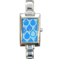 Droplet Rectangle Italian Charm Watch by WensdaiAddamns