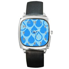 Droplet Square Metal Watch by WensdaiAddamns
