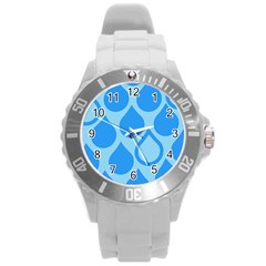 Droplet Round Plastic Sport Watch (l) by WensdaiAddamns