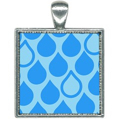 Droplet Square Necklace by WensdaiAddamns