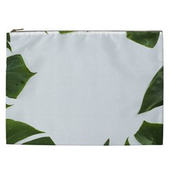 Green Leaves Cosmetic Bag (xxl) by goljakoff