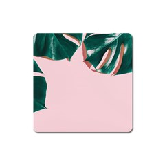 Green Monstera Square Magnet by goljakoff