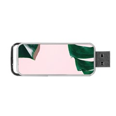 Green Monstera Portable Usb Flash (one Side) by goljakoff