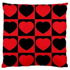 Royal Hearts Large Flano Cushion Case (two Sides) by WensdaiAddamns