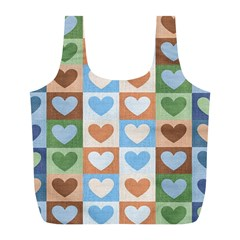 Hearts Aplenty Full Print Recycle Bag (l)