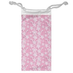 Pink Floral Background Jewelry Bag by Jojostore