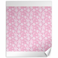 Pink Floral Background Canvas 16  X 20  by Jojostore