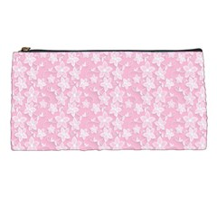 Pink Floral Background Pencil Cases