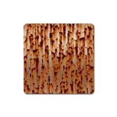 Rust Rusty Metal Iron Old Rusted Square Magnet
