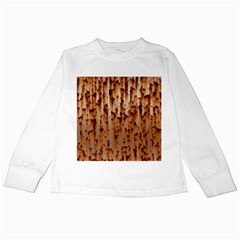 Rust Rusty Metal Iron Old Rusted Kids Long Sleeve T Shirts by Jojostore