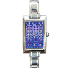 Digital Art Star Rectangle Italian Charm Watch by Mariart