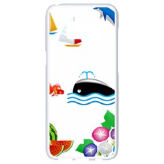 Summer Dolphin Whale Samsung Galaxy S8 White Seamless Case