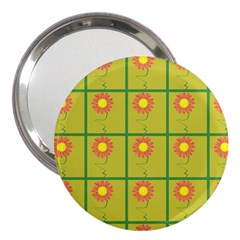 Sunflower Pattern 3  Handbag Mirrors by Alisyart