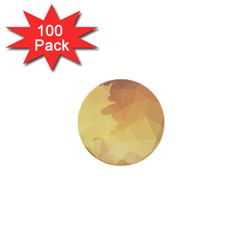 Autumn Leaf Maple Polygonal 1  Mini Buttons (100 Pack)  by Alisyart