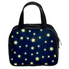 Stars Night Sky Background Classic Handbag (two Sides)