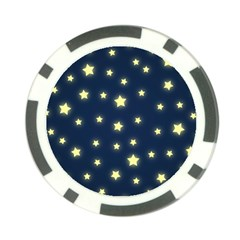 Stars Night Sky Background Poker Chip Card Guard (10 Pack) by Alisyart
