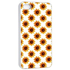 Sunflower Digital Paper Yellow Apple Iphone 4/4s Seamless Case (white)
