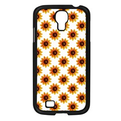 Sunflower Digital Paper Yellow Samsung Galaxy S4 I9500/ I9505 Case (black) by AnjaniArt