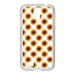 Sunflower Digital Paper Yellow Samsung Galaxy S4 I9500/ I9505 Case (white)