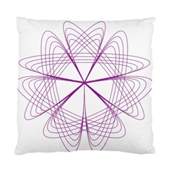 Spirograph Circle Geometric Standard Cushion Case (two Sides) by AnjaniArt
