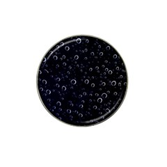 Blued Dark Bubbles Print Hat Clip Ball Marker (4 Pack)
