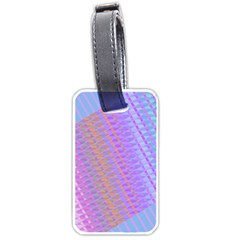 Diagonal Line Design Art Luggage Tags (one Side)