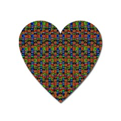 For The Love Of Soul And Mind In A Happy Mood Heart Magnet by pepitasart