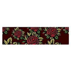 Roses Red Satin Scarf (oblong) by WensdaiAmbrose