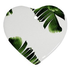 Banana Leaves Heart Ornament (two Sides) by goljakoff
