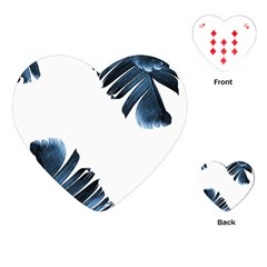 Blue Banana Leaves Playing Cards (heart) by goljakoff