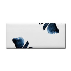 Blue Banana Leaves Hand Towel by goljakoff
