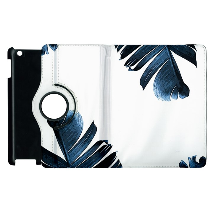 Blue banana leaves Apple iPad 2 Flip 360 Case