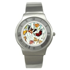 My Butterfly Collection Stainless Steel Watch by WensdaiAmbrose