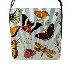 My Butterfly Collection Flap Closure Messenger Bag (l) by WensdaiAmbrose