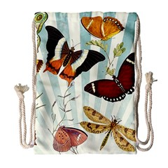 My Butterfly Collection Drawstring Bag (large) by WensdaiAmbrose