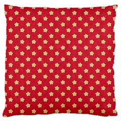 Red Hot Polka Dots Large Flano Cushion Case (two Sides) by WensdaiAddamns