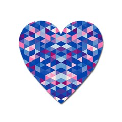 Digital Art Geometry Triangle Heart Magnet by Jojostore