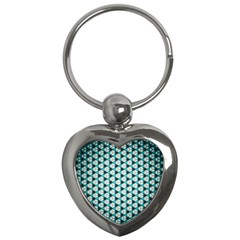 Digital Art Triangle Key Chains (heart)  by Mariart