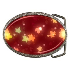Leaf Leaves Bokeh Background Belt Buckles