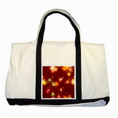Leaf Leaves Bokeh Background Two Tone Tote Bag